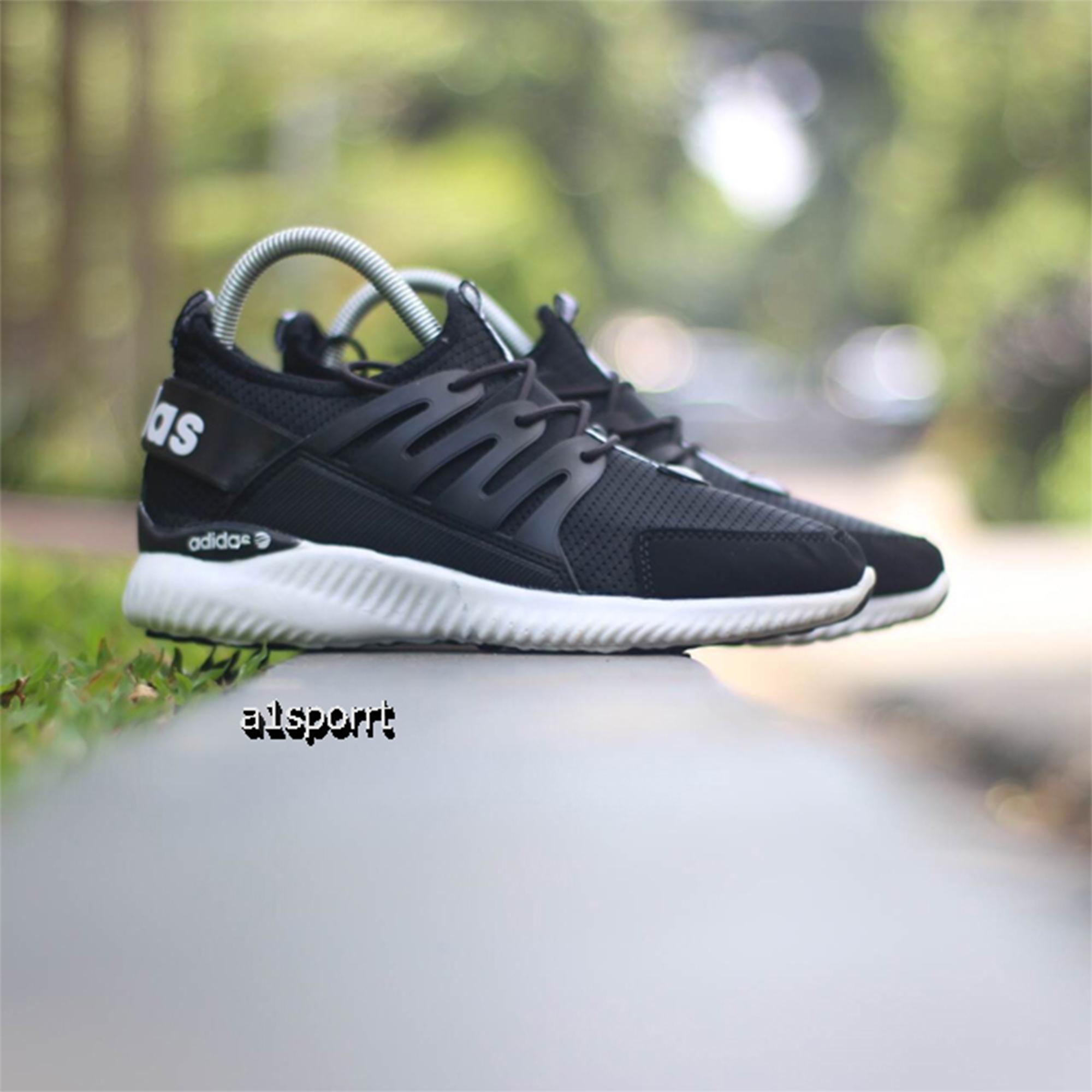 Sepatu Murah Adidas Alphabounce Kualitas Premium hitam sole putih