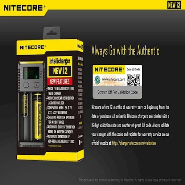 Nitecore NEW I2 2016 Original Intellicharger Battery Charger