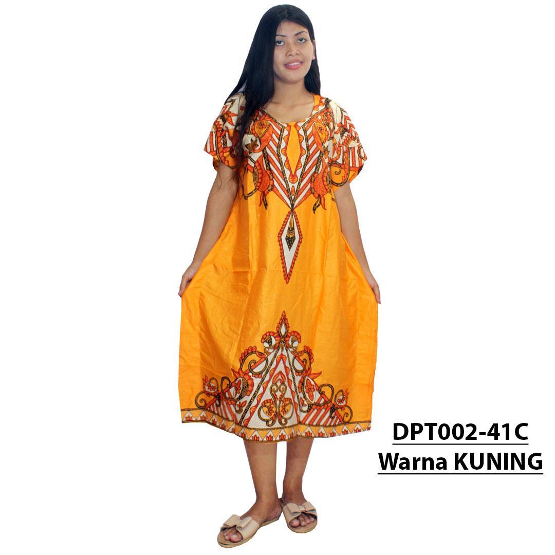 Daster Kalong / Lowo Batik - Motif Kombinasi - Leher O (DPT002-41) Batik Alhadi