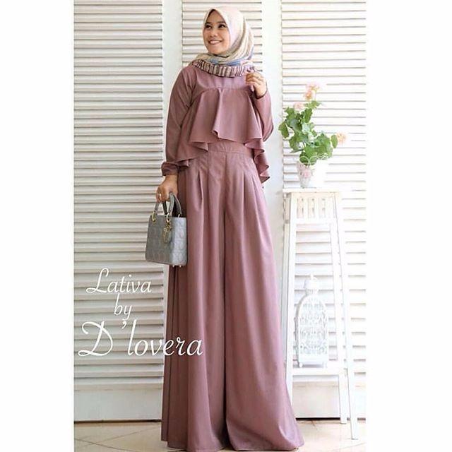 Baju Wanita Baju Gamis Baju Muslim Lativa Jumpsuit