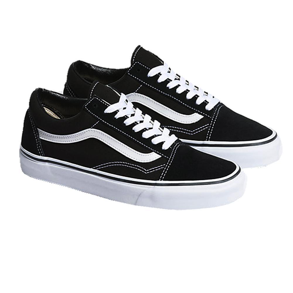 Zacksho Sepatu Casual Vans Old Skool Sneakers Pria dan Wanita Unisex