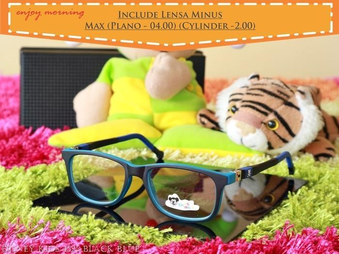 Kacamata Anak Lensa Minus Disney 4525 C3 Black Blue