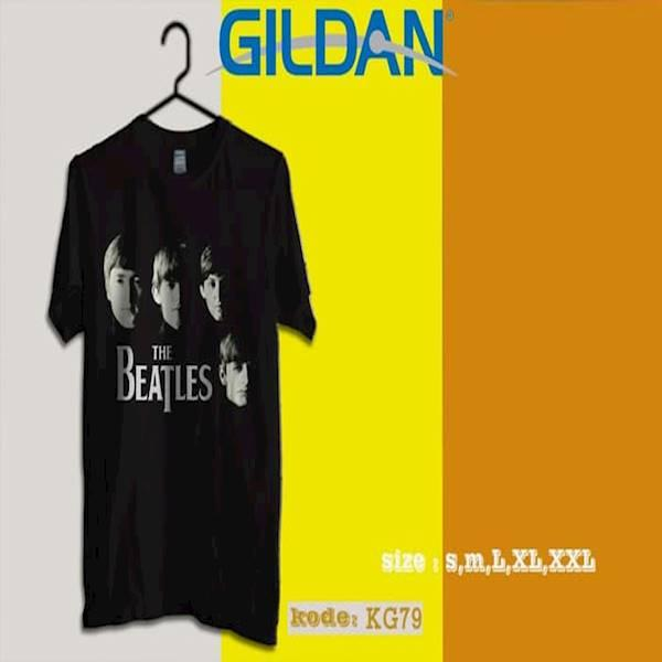 Kaos THE BEATLES Tag Origiinal Gildan Softstyle