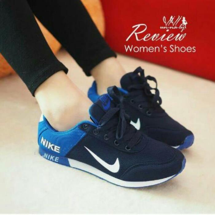KETS SPON NIKE NEW BLUE 05 / sepatu  / sepatu wanita murah / slip on / sepatu flat / sepatu sneakers / sepatu keren / sepatu wanita / sandal wanita / sepatu sandal / sepatu