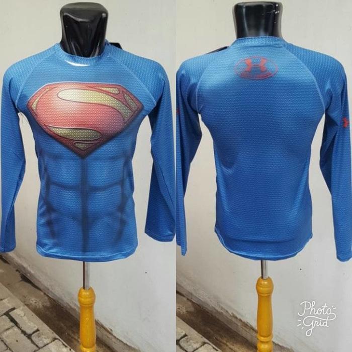 Manset Baselayer Under Armour Superman New - Lengan Panjang