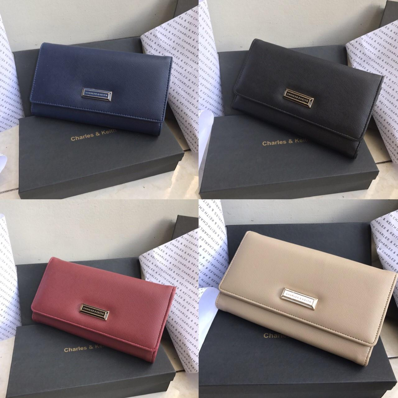 Promo Dompet Wanita Charles And Keith CK N Double Flip Wallet Best