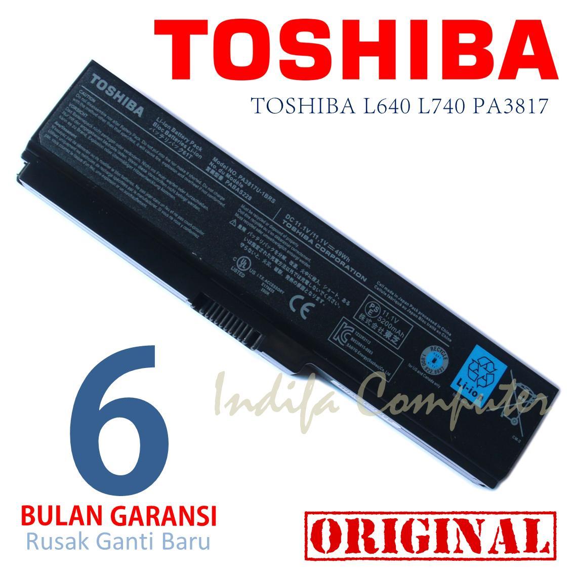 Original Batre Baterai Toshiba PA-3817 PA3817 L630 L640 L645 L740 L635 L645 L745 C600 C640