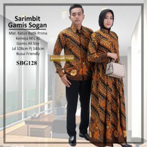 Baju batik coupel- coupel gamis batik