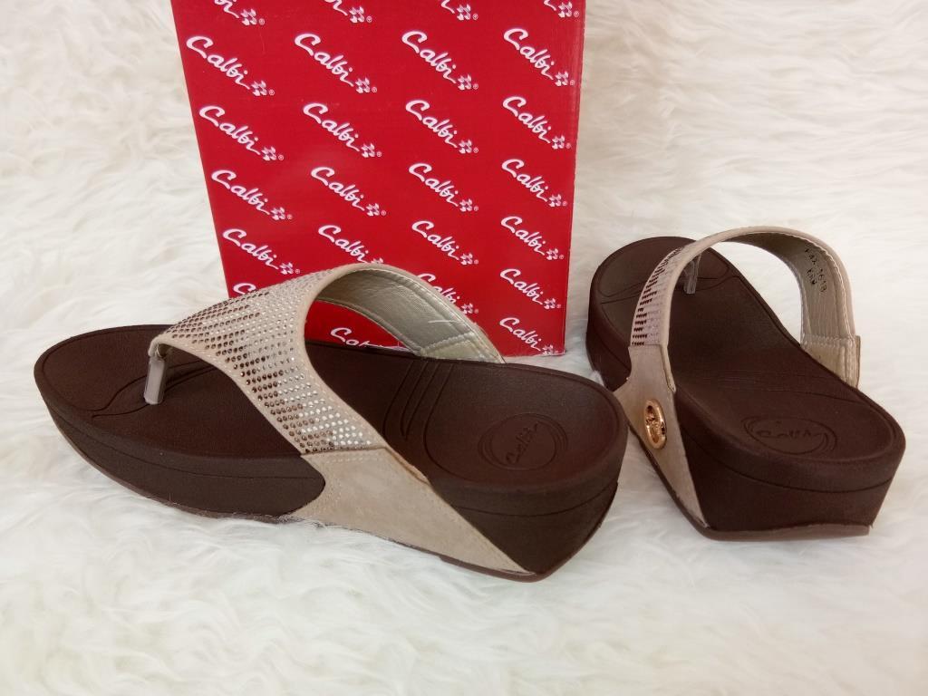 Detail Gambar Sandal Wedges Wanita - Calbi F4X 1618 Krem - Wedges Original  Terbaru ca731da9dc