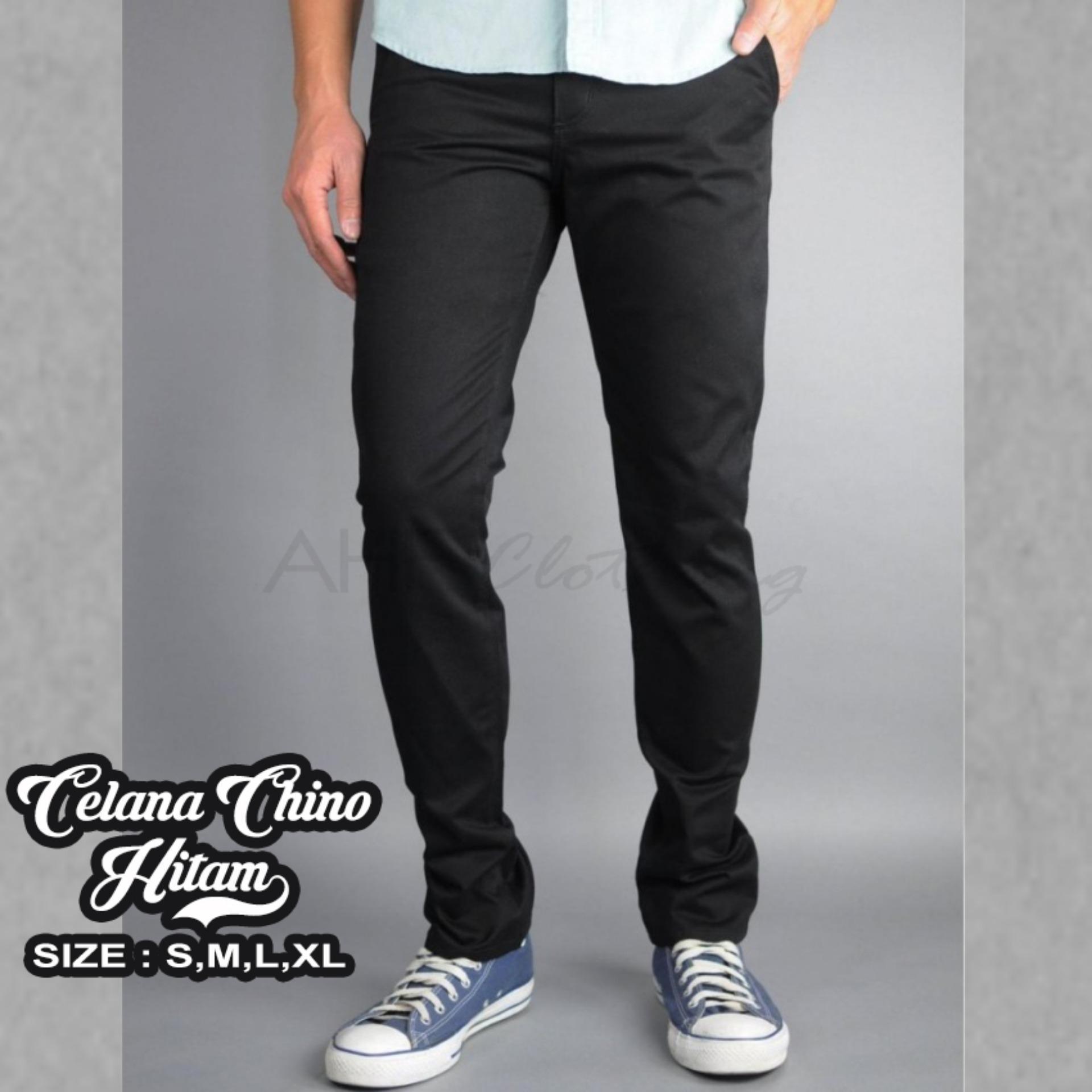 Celana Panjang Chino/Chinos Pria/Cowok - Krem(Cream)/Hitam(Black)/Abu(Grey)