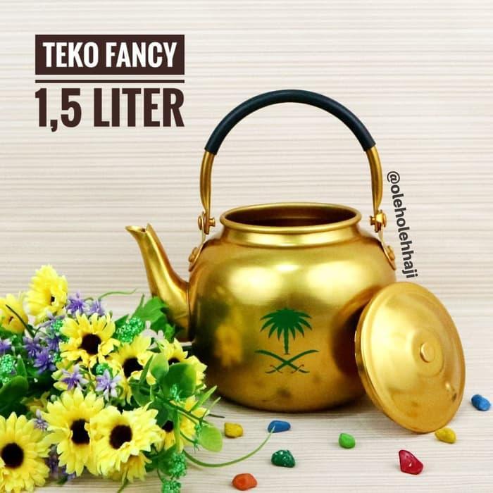 Teko Arab Air Zam zam Fancy Gold 1.5 Liter Oleh Oleh Haji Umroh/Perealatan Dapur/Peralatan Makan/Perlengkapan Dapur/Teko Air Zam-zam/Teko Import