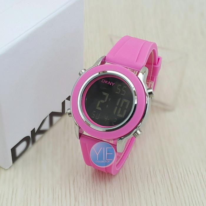PROMO TERBATAS!!! Jam Tangan DKNY Wanita Digital - Pink Terbaru Murah