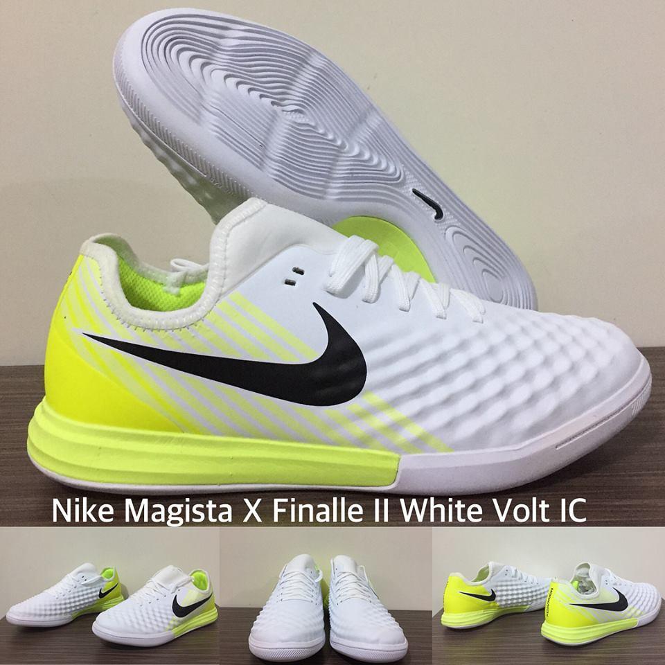 Sepatu Futsal - Nike Magista X Finale II White Volt IC