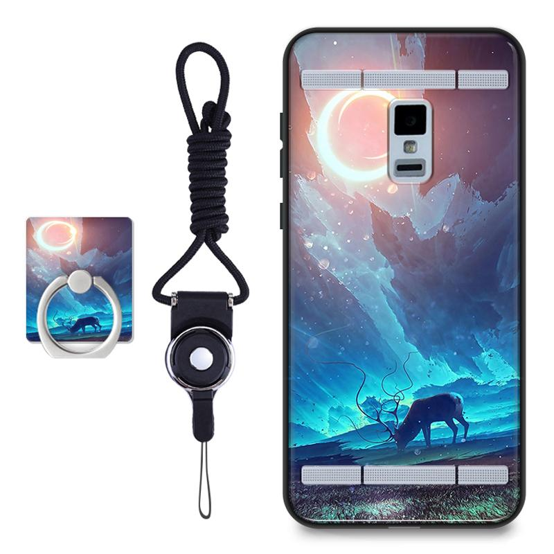 Silica Gel Soft Phone Case for Vivo Xplay 3S with a Rope and a Ring (