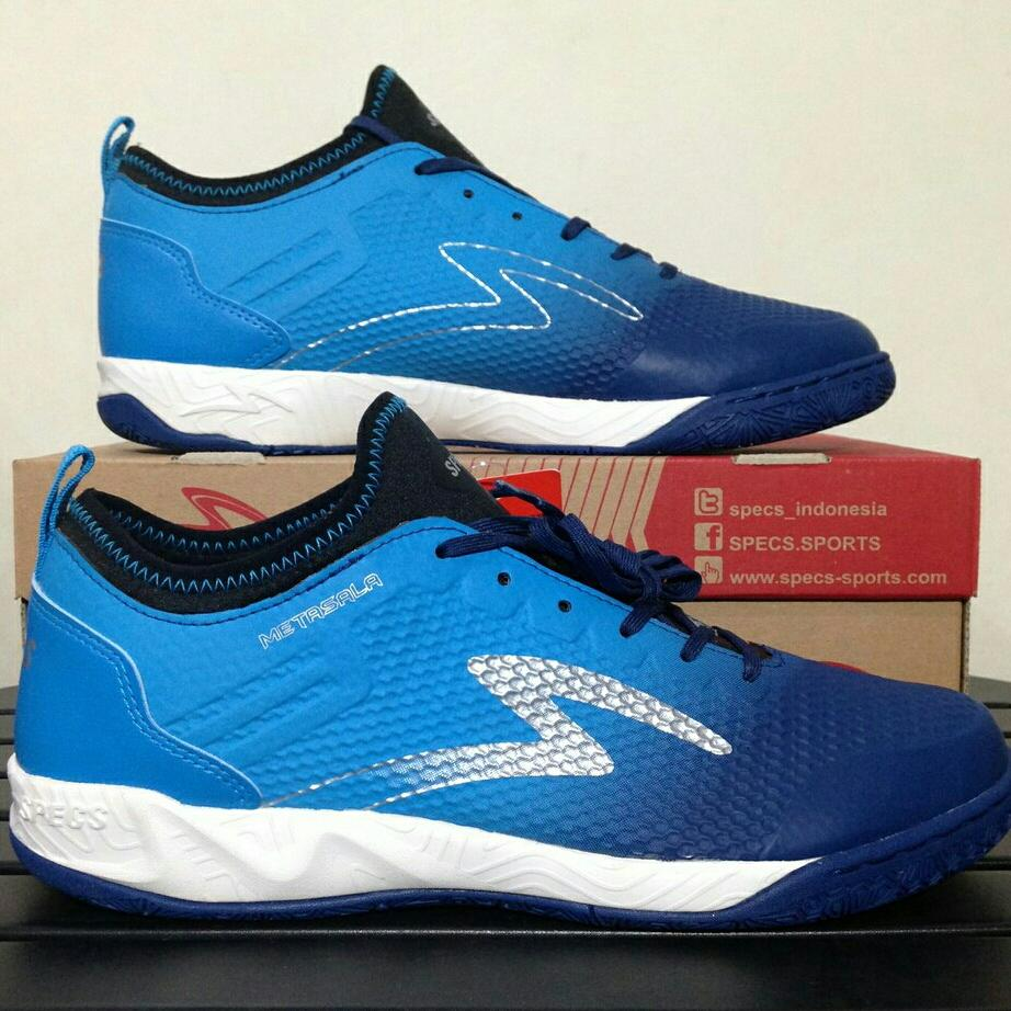 Daftar Harga Sepatu Futsal Specs Metasala Full Black Termurah Knight Galaxy Blue Tulip Palona Grey White Muskeeter Rock 400739 Original Bnib