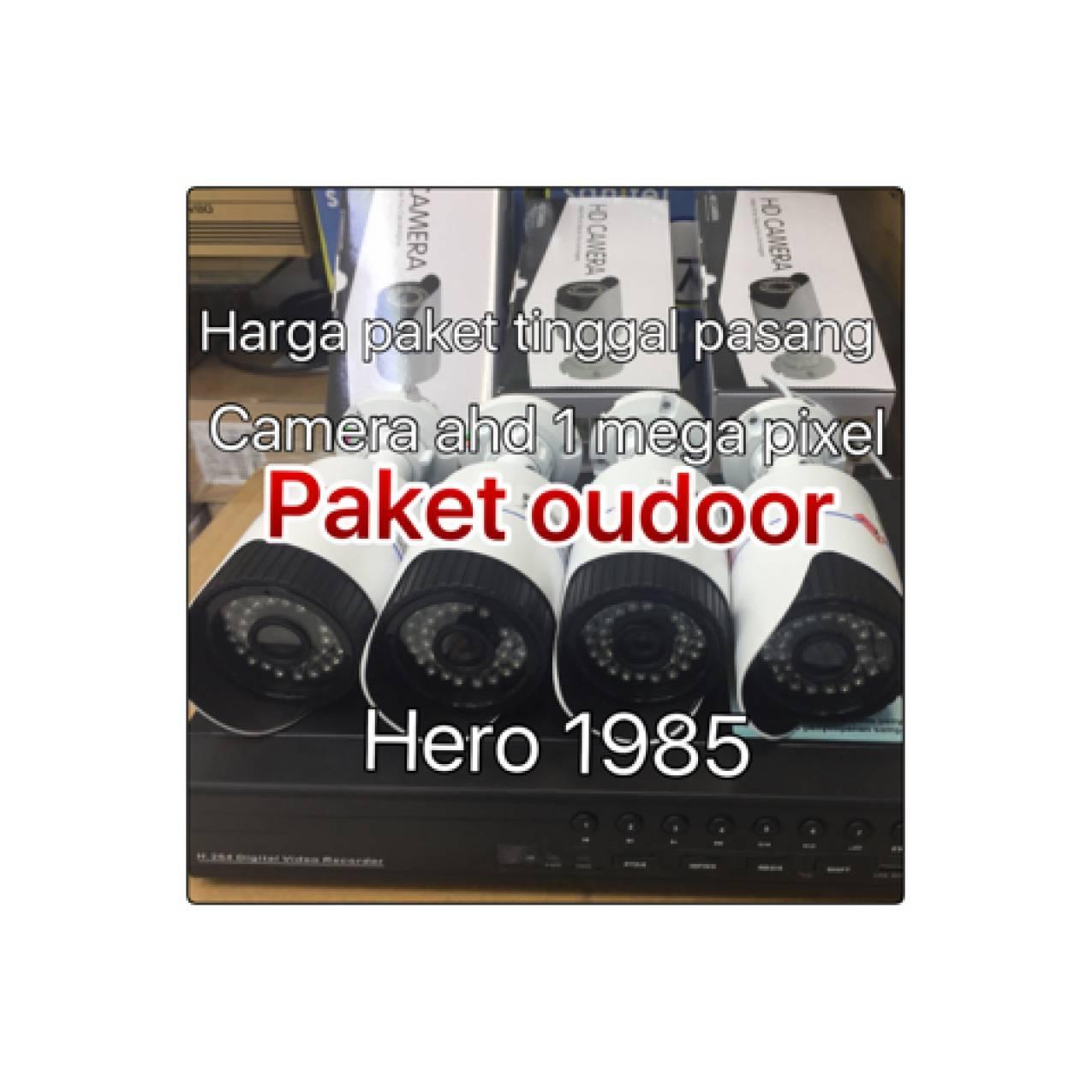 rekaman cctv AHD 1MP 4ch+hardisk 1 tera tinggal pasang