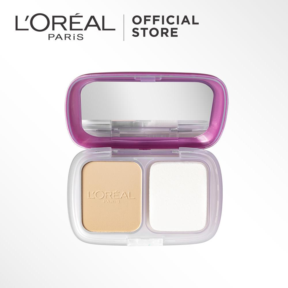 L'Oreal Paris Mat Magique Two Way Cake Powder - N1 - Nude Ivory by L'Oreal Paris Makeup   Loreal  Padat / Compact Powder Matte For All Types of Skin / Semua Jenis Kulit Long Lasting Lightweight Tahan Lama Ringan