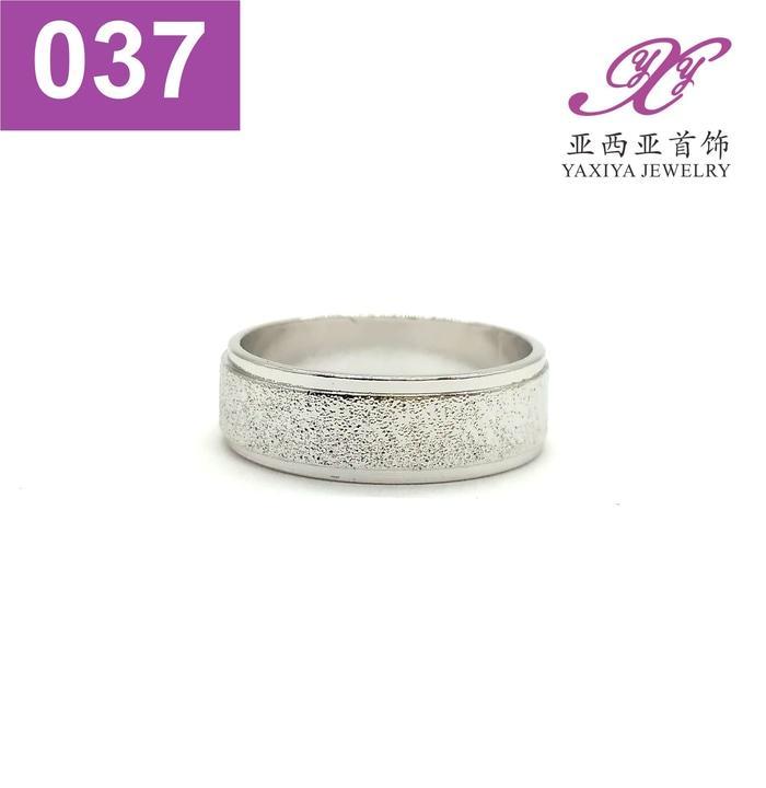 Cincin Kawin Polos Couple Emas Putih Perhiasan Imitasi  037