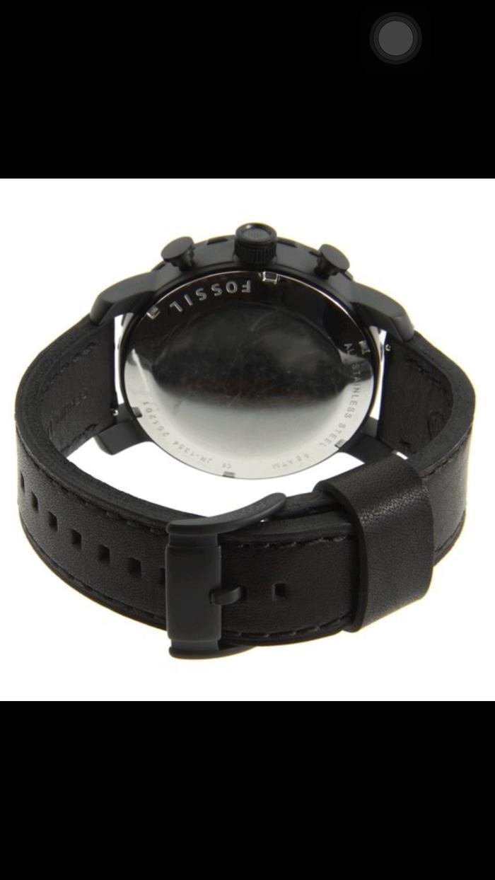 Fossil Nate Jr1354 Jam Tangan Pria Chronograph Leather Black Jr1480 Original Merk Jr 1354 4