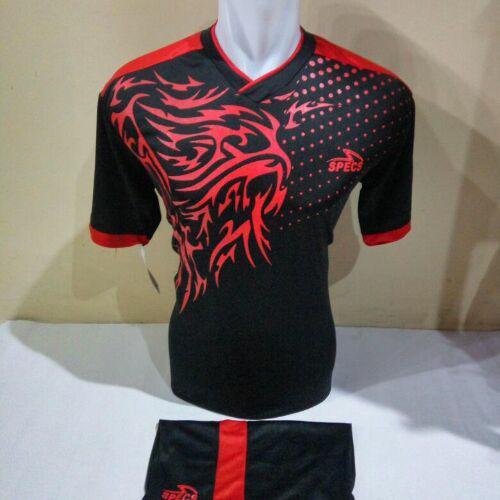 Baju Kaos Olahraga Jersey Bola Setelan Futsal Volley Spc 02 Hitam merah