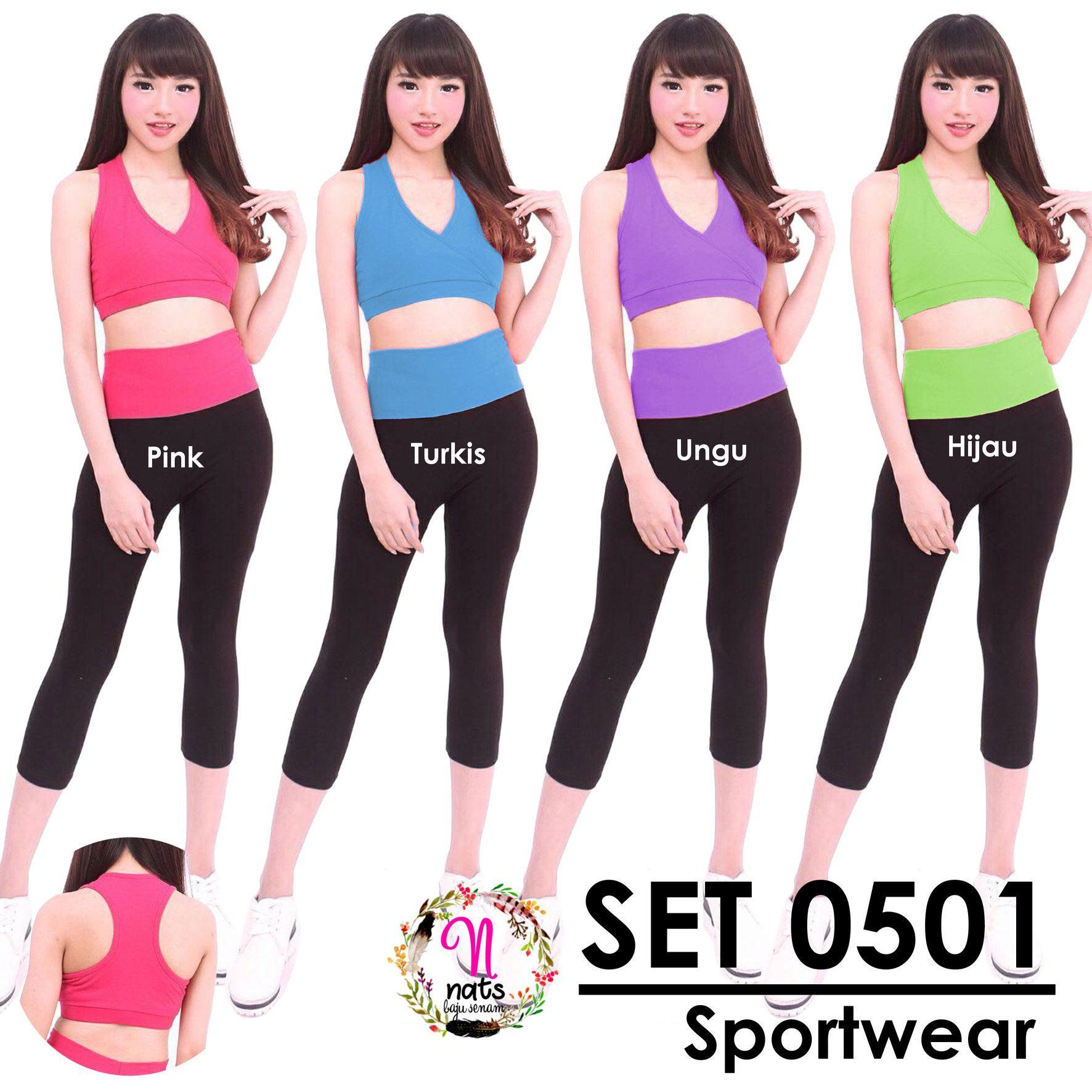 Setelan Senam 0501 COLOR / Baju Senam Bra senam Celana senam Legging senam zumba yoga aerobic gym fitness
