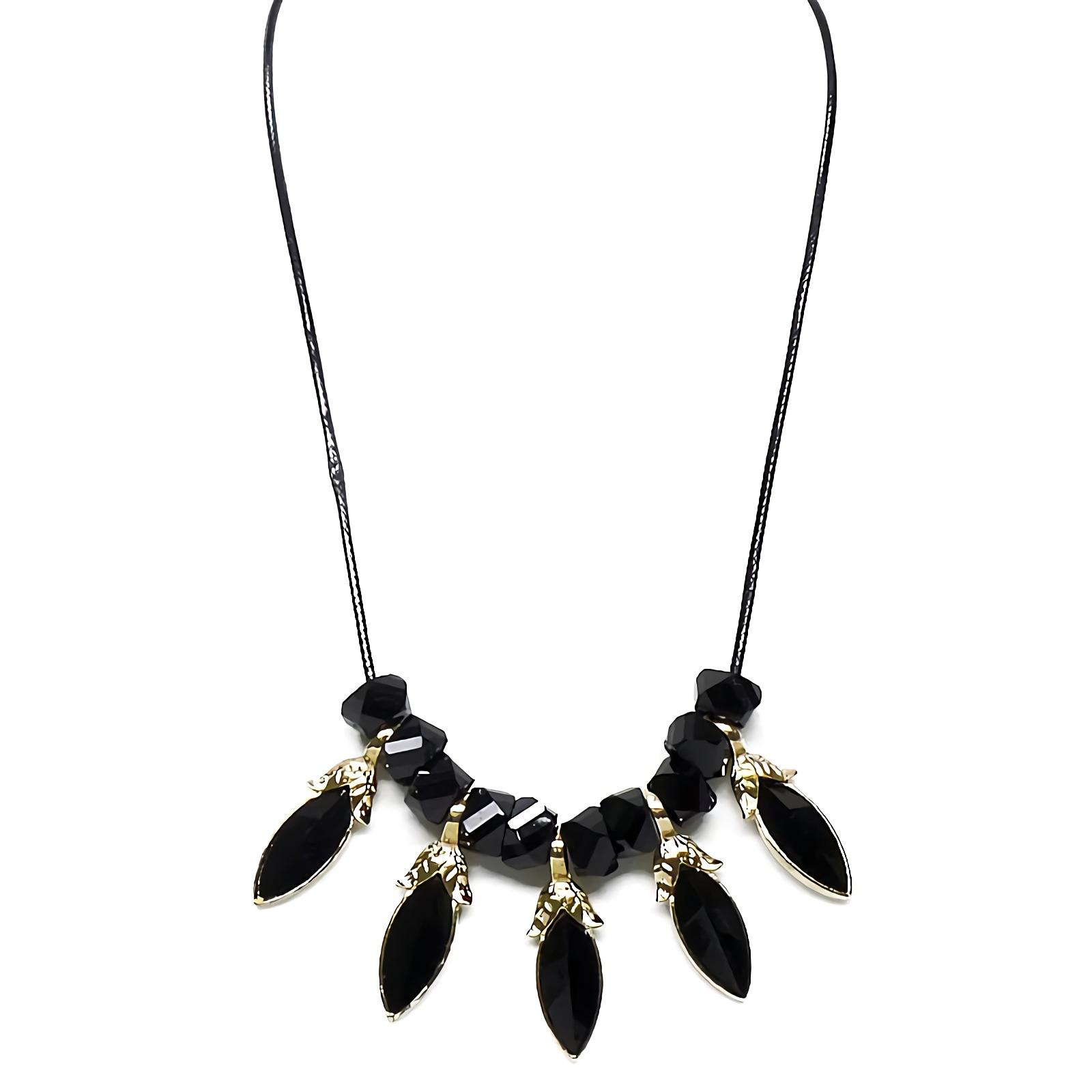 OFASHION Aksesoris Kalung CA-180314-K012 Necklace Fashion Xuping Jewelry Hitam Hitam