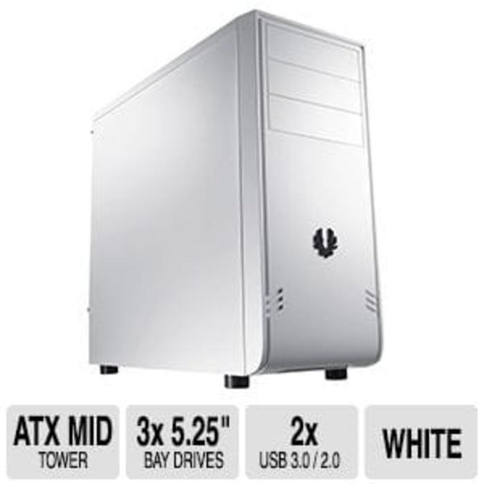 BEST SELLER - Casing PC Bitfenix Mid Tower ATX Comrade Window Black and White