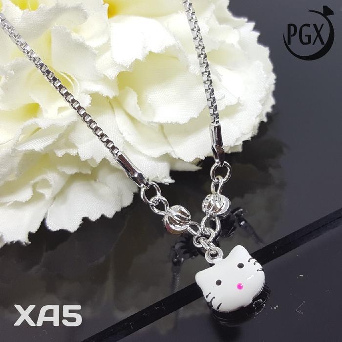 XA5 Kalung Anak Hello Kitty Perak -Perhiasan Imitasi Xuping Lapis Emas