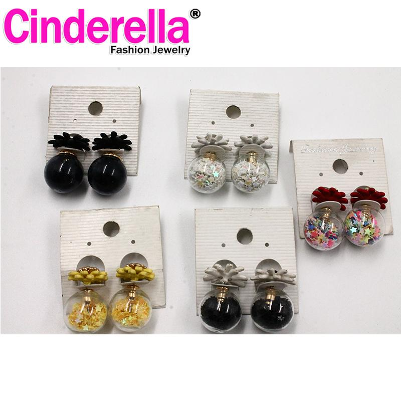 Anting Dior - Bunga hitam
