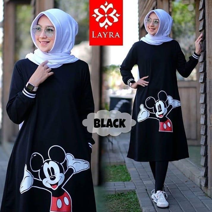 Baju Muslim Original Gamis Mickey Tunik Dress Baju Wolfice Baju Teusan Wanita Baju Terusan Terbaru Wanita  Gamis Syari Baju Muslim Terbaru 2018