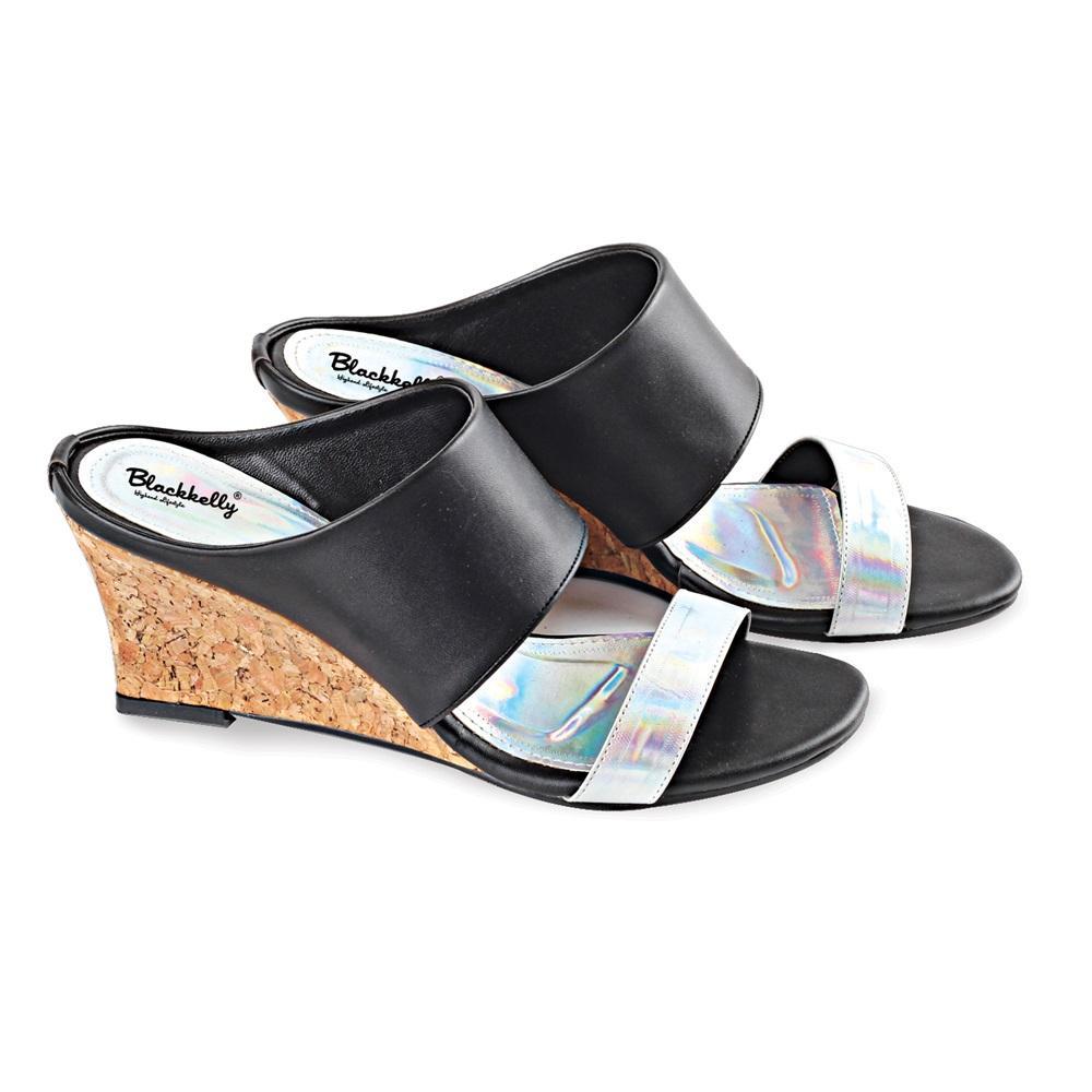 Sandal Kelom / Heels Wanita hitam CBR SIX ACC 601 murah ori original
