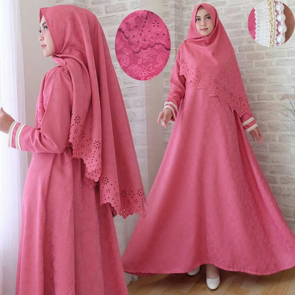 Jakarta Couple - Syari'i Rossa  /Syari Maxi Cantik /Baju Gamis Muslim/ Gamis Mutiara / Gamis Murah / Atasan Muslim Wanita / Pakaian Baju Muslim