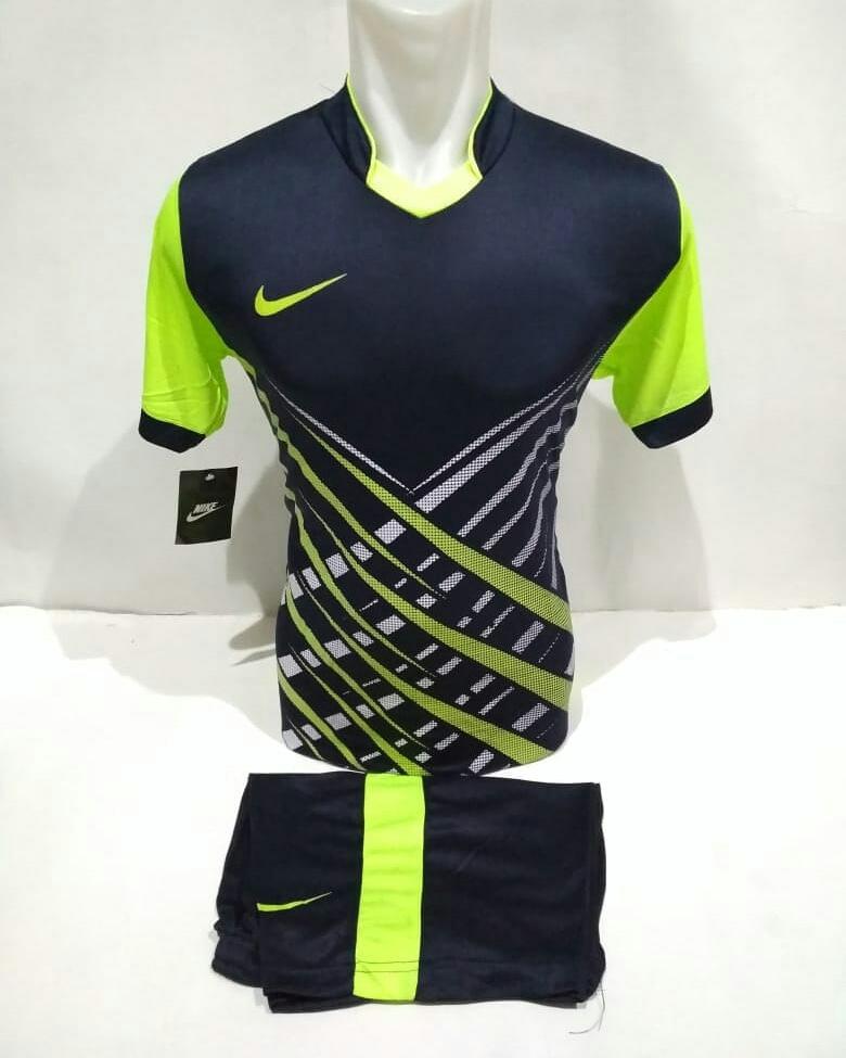 Baju Kaos Olahraga Jersey Bola Setelan Futsal Volley Nike 26 Hitam Hijau