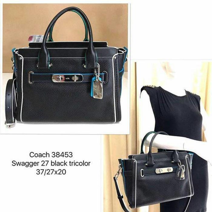 Authentic Original Asli USA Store SALE..SALE..IDR4900000. Rp 4.920.000. Tas  Coach Swagger 27 ... c3b87462bd