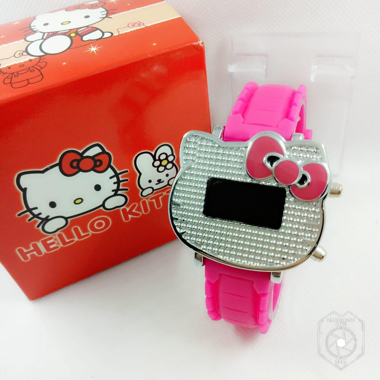 jam tangan anak digital hello kitty