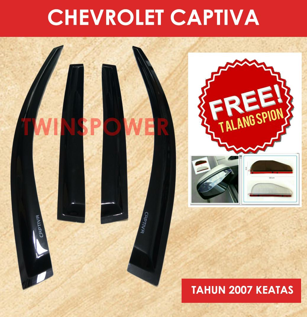 Talang Air Mobil Chevrolet Captiva + FREE Talang Spion