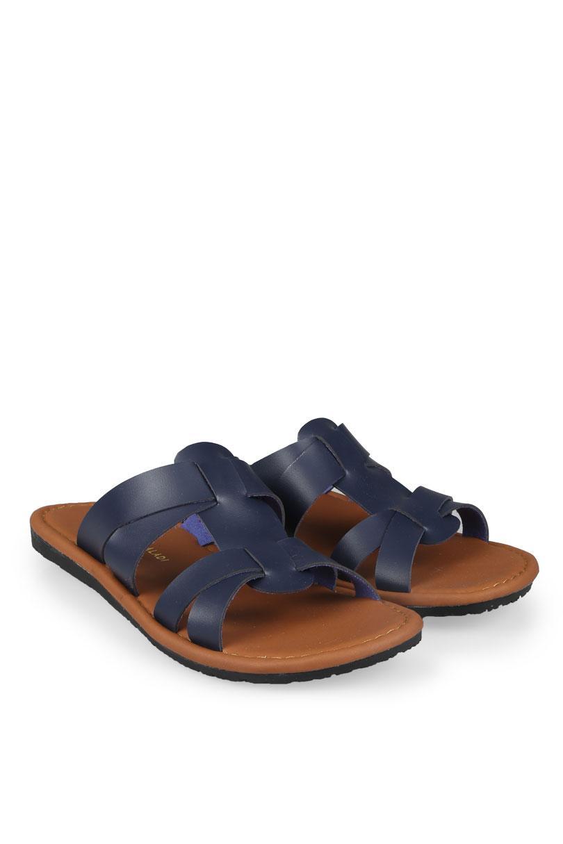 Yongki Komaladi Flip Flop & Sandal Fashion Pria Arief Navy (39)