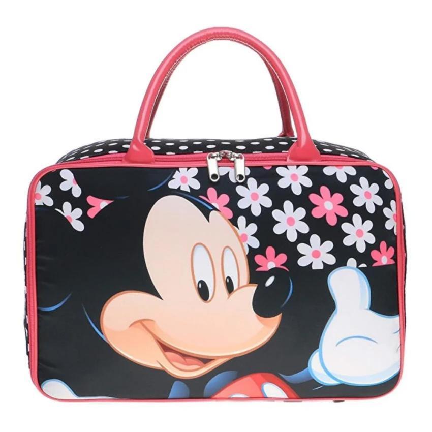 Travel Bag Kanvas Kotak Premium hadir dengan cetakan gambar Butik Fashionmasing-masing di bagian depan