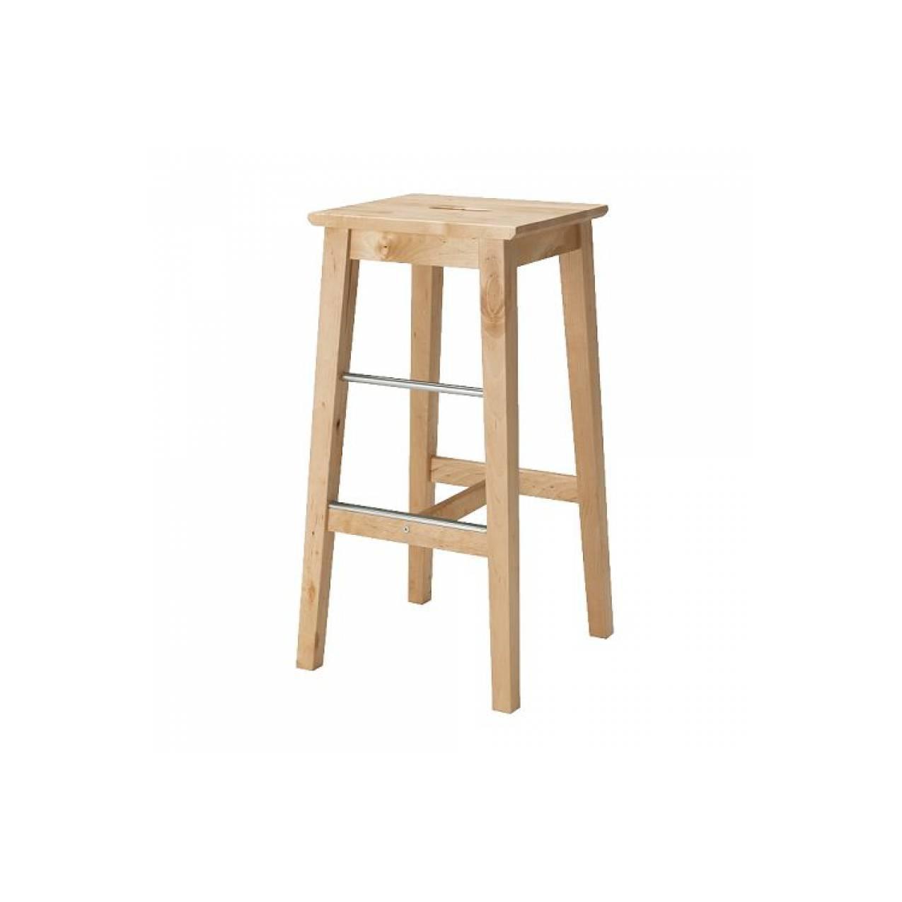 IKEA BOSSE Kursi bar 74 cm, kayu birch