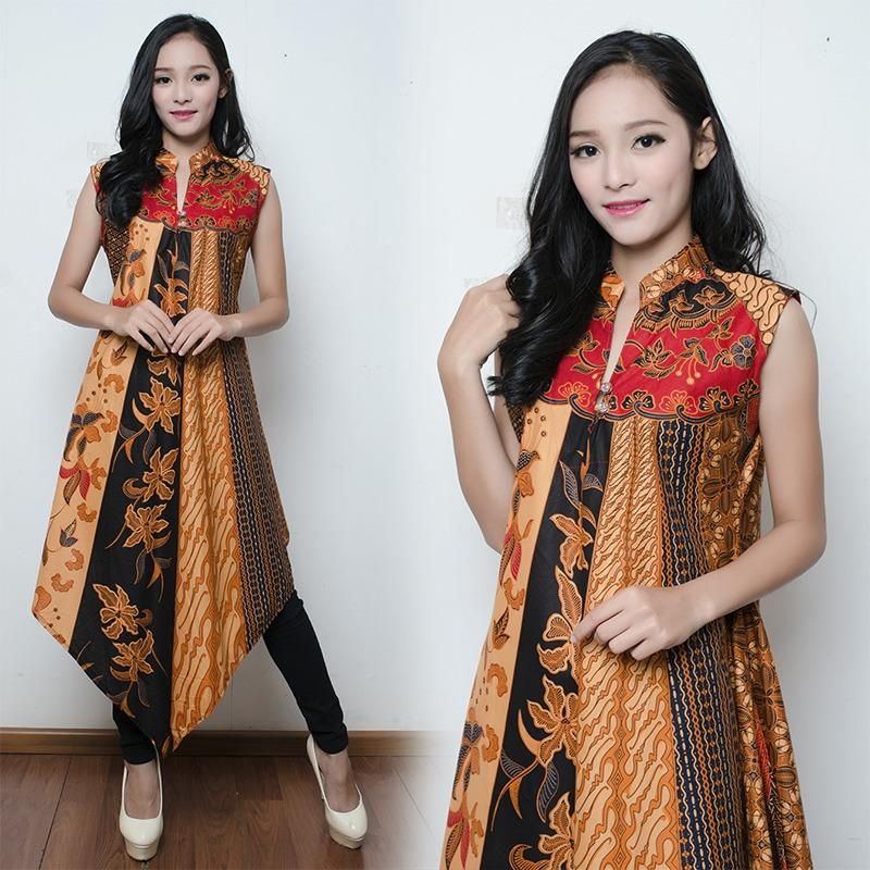 SB Collection Dress Maxi Jennifer Longdress Panjang Kaftan Batik Wanita