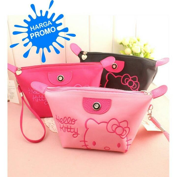 Pouch Kosmetik Pouch Hello Kitty bordir