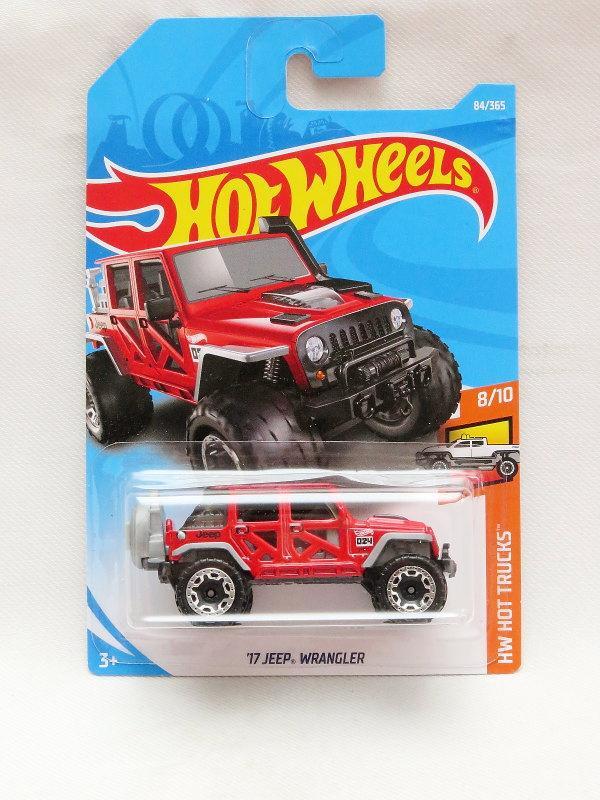 Hot Wheels '17 Jeep Wrangler - merah