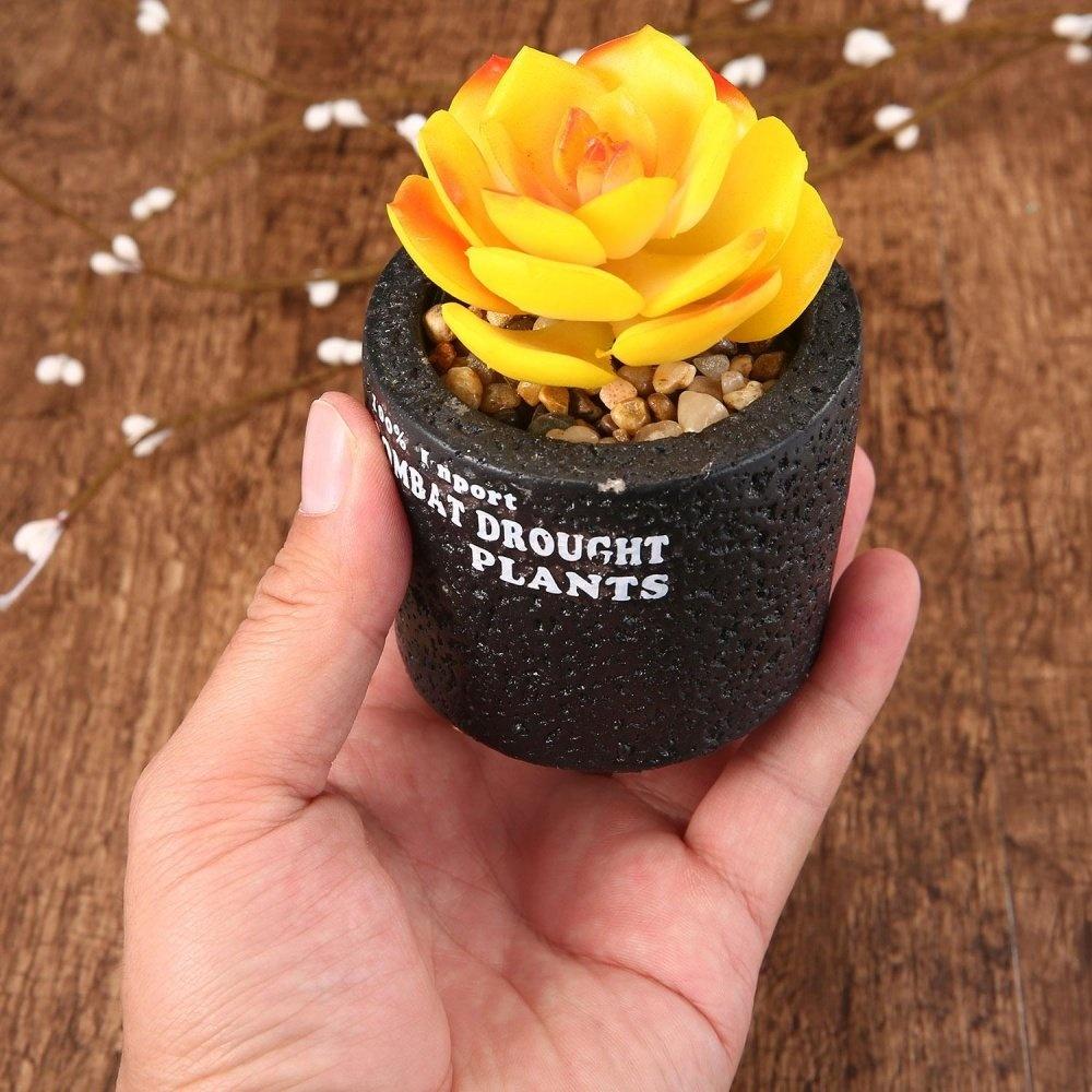 Spesifikasi dari Niceeshop Mini Pot Buatan Hijau Tanaman Bonsai Bonsai Set Palsu  Bunga Vase Dekoratif Bunga 423a6a3dd3