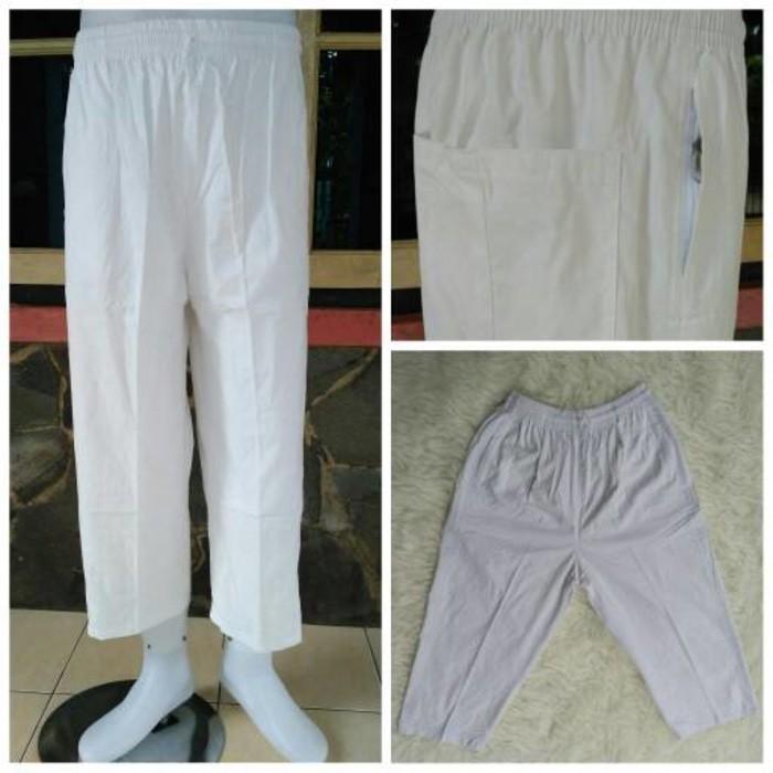 Celana Sirwal/ Pangsi / Cingkrang Putih Dewasa - Katbl3