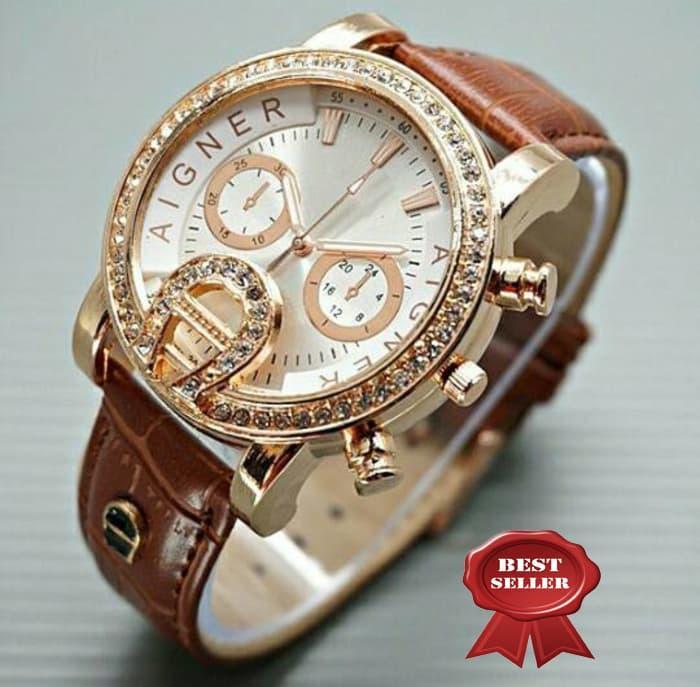 jam tangan aigner wanita / jtr 795 coklat / Jam tangan wanita / jam tangan model terbaru / jam tangan murah / jam tangan cantik / jam tangan modis