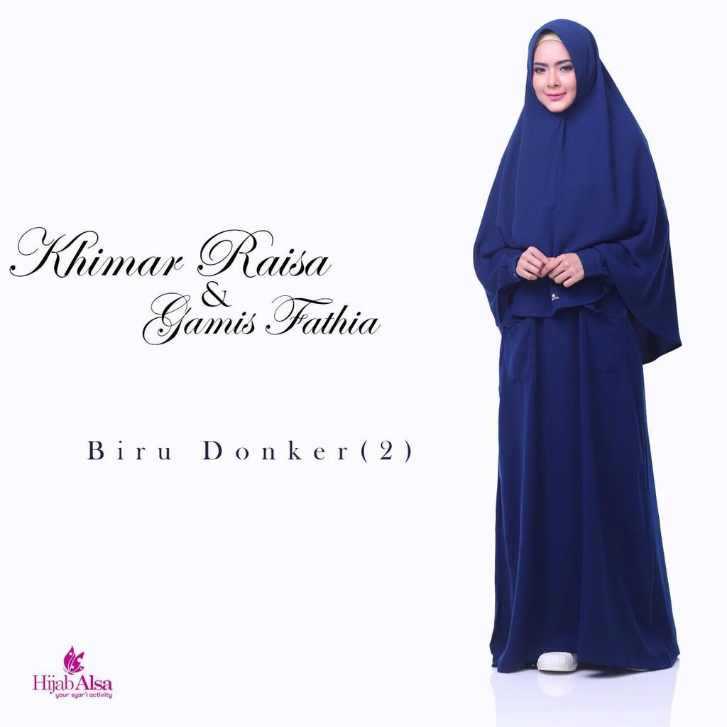 Gamis Syar'i Gamis Fathia Hijab ALsa Best Seller/ Gamis Polos Gamis Size L