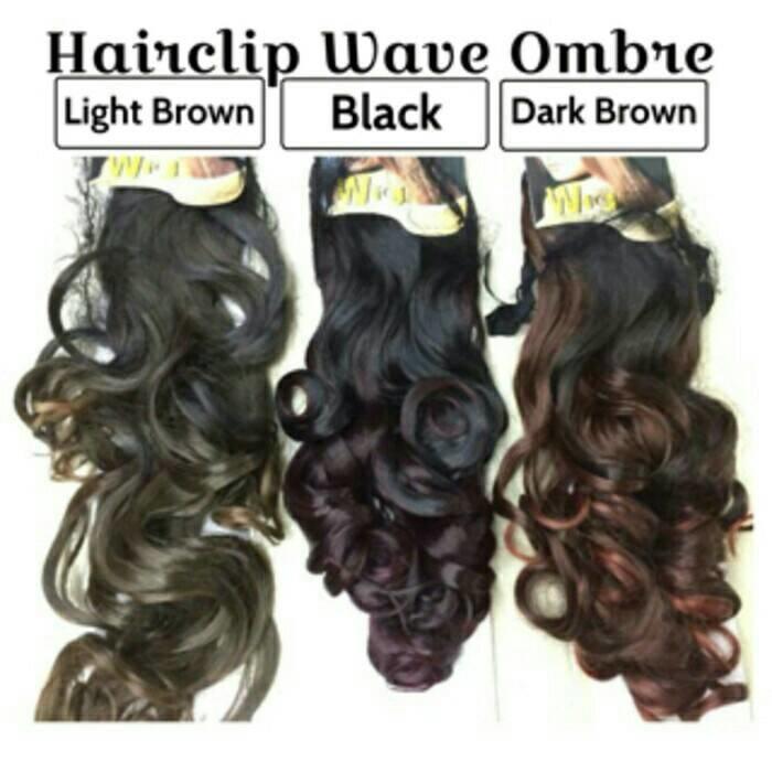 Ombre Wave Hairclip ( 2 Tone Colour Hair Clip ) Merk Wig