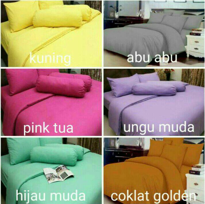 BedCover set polos single rosewell