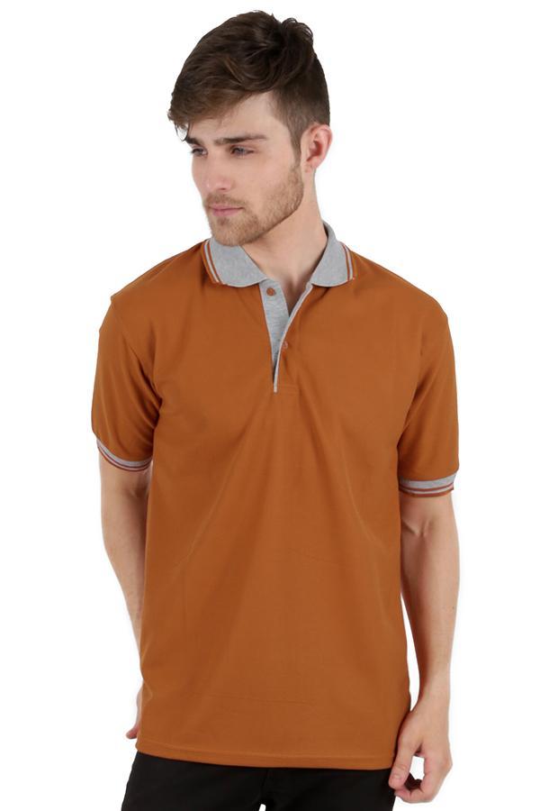 Elfs Shop - Kaos Polo Shirt Pria Baju Lakos Kerah Abu Muda
