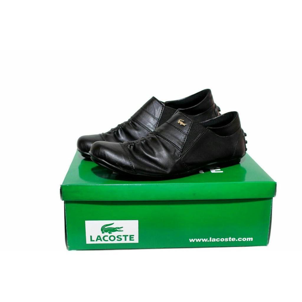 Promo !! Sepatu Casual Lacoste Wrinkle Slop Santai Formal Kerja Pria